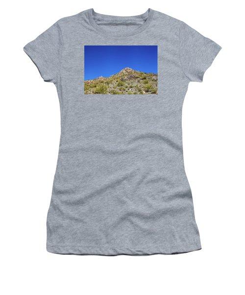 Desert Mountaintop Women's T-Shirt (Junior Cut) by Ed Cilley