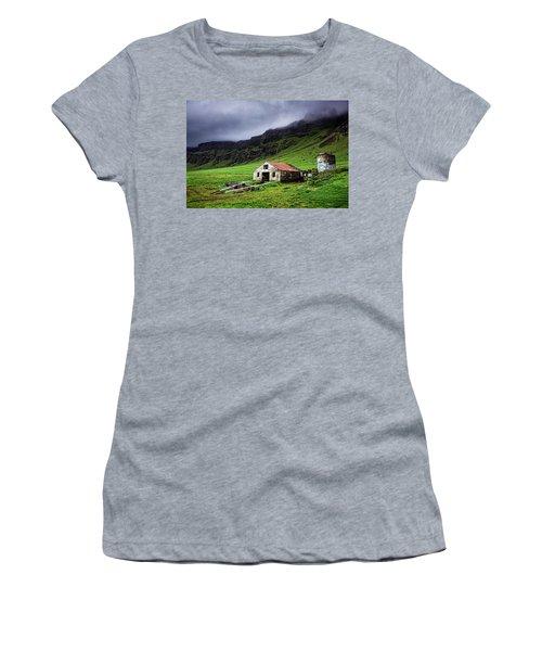 Deserted Barn In Iceland Women's T-Shirt