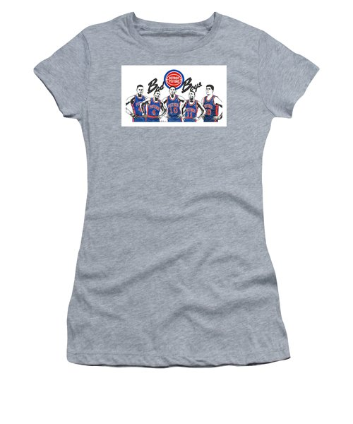 Detroit Bad Boys Pistons Women's T-Shirt (Athletic Fit)