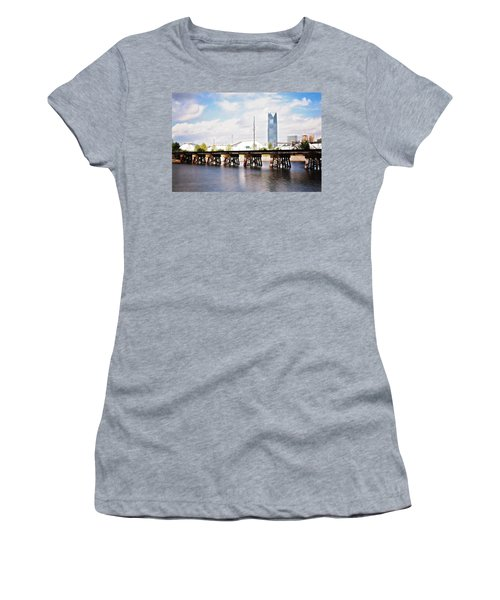 Devon Tower Women's T-Shirt (Junior Cut) by Lana Trussell