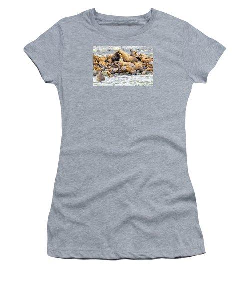 Disagreement Women's T-Shirt (Junior Cut) by Harold Piskiel