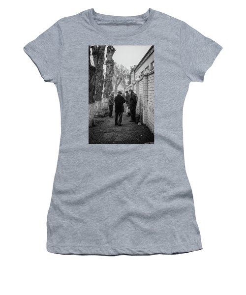 Women's T-Shirt (Athletic Fit) featuring the photograph Discussion by John Williams