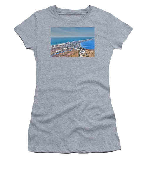 Distant Aerial View Of Gulf Shores Women's T-Shirt