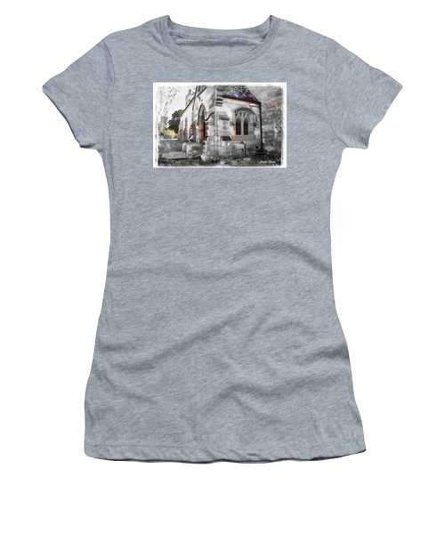 Women's T-Shirt (Athletic Fit) featuring the photograph Do-00116 Church In Morpeth by Digital Oil