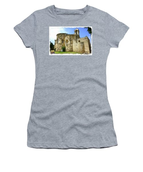 Do-00344 Church Of St John Marcus In Byblos Women's T-Shirt (Athletic Fit)