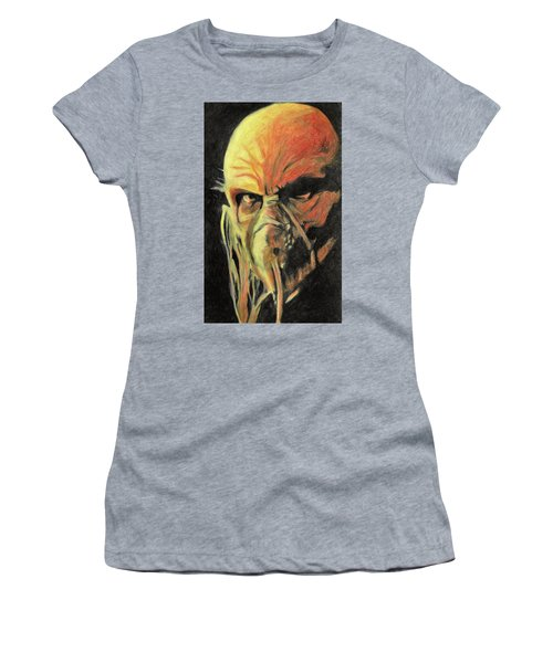 Women's T-Shirt (Athletic Fit) featuring the painting Doctor Satan by Taylan Apukovska