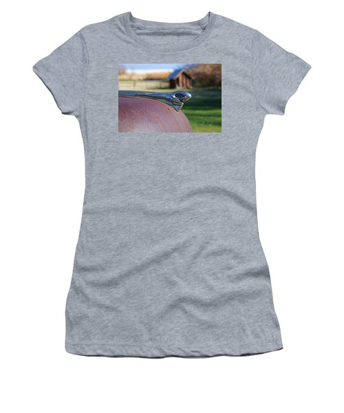 Women's T-Shirt (Junior Cut) featuring the photograph Dodge Emblem by Ely Arsha