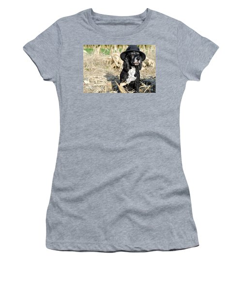 Dog With A Hat Women's T-Shirt (Athletic Fit)