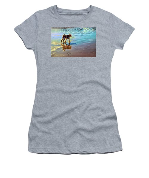 Doggone Beachy Day Women's T-Shirt (Athletic Fit)