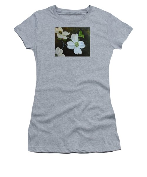Dogwood Dream Women's T-Shirt (Junior Cut) by Sandra Nardone