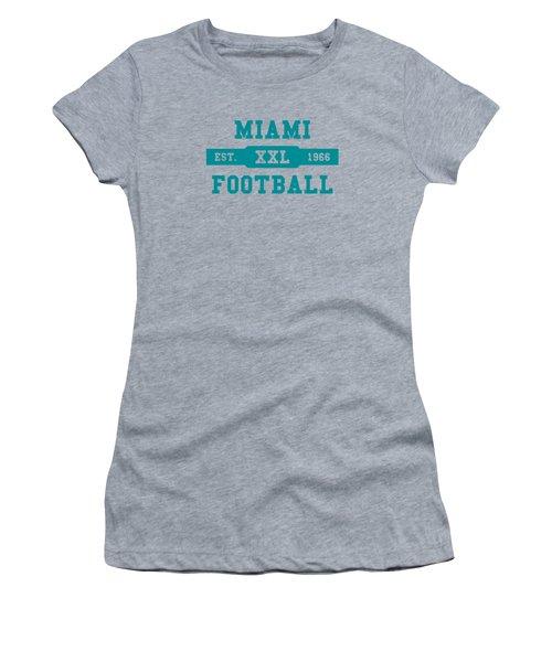 Dolphins Retro Shirt Women's T-Shirt (Junior Cut) by Joe Hamilton