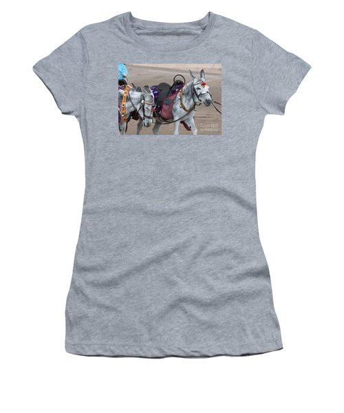 Donkeys On Blackpool Beach Women's T-Shirt (Athletic Fit)