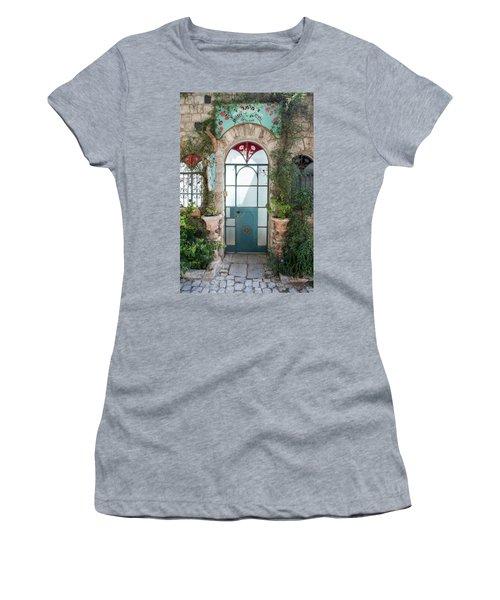 Women's T-Shirt (Junior Cut) featuring the photograph Door Entrance To The Art by Yoel Koskas