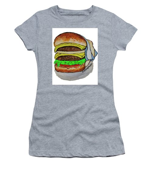 Double Cheeseburger Women's T-Shirt (Athletic Fit)
