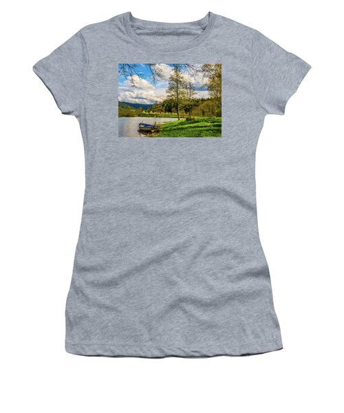 Women's T-Shirt (Junior Cut) featuring the photograph Down By The Lake  by David Dehner