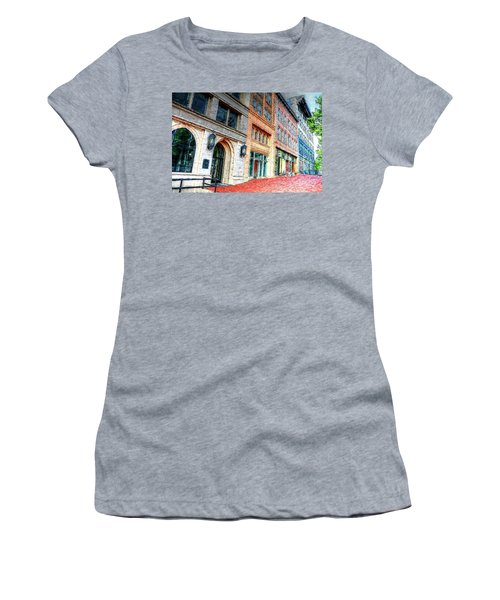 Downtown Asheville City Street Scene II Painted Women's T-Shirt