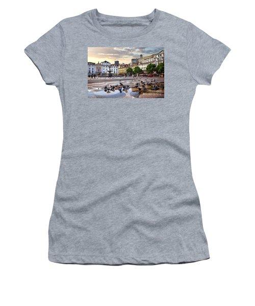 Downtown Lisbon Women's T-Shirt (Athletic Fit)