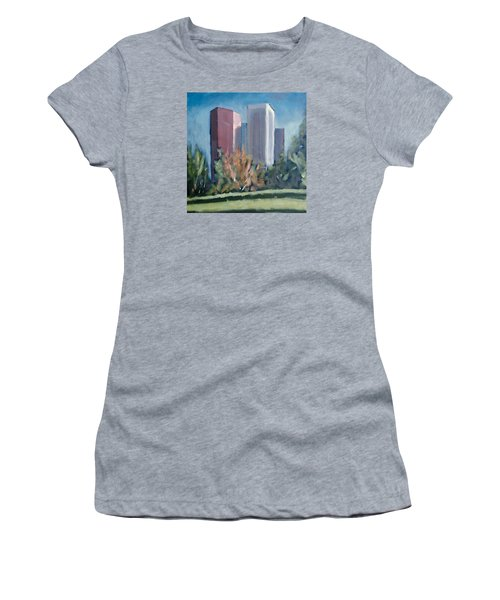 Downtown Los Angeles Women's T-Shirt (Junior Cut) by Richard Willson