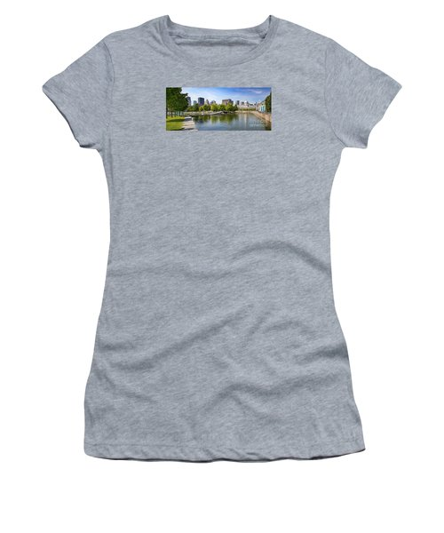 Downtown Montreal In Summer Women's T-Shirt (Athletic Fit)