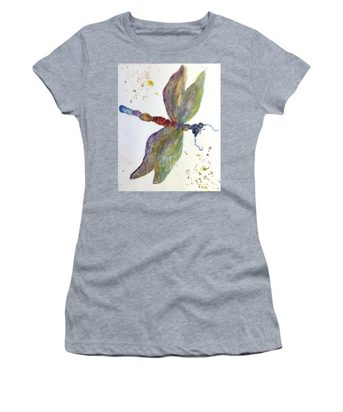 Dragonfly Women's T-Shirt (Junior Cut) by Lucia Grilletto