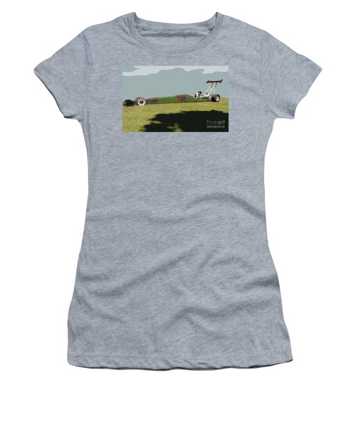 Dragster Flower Bed Women's T-Shirt (Athletic Fit)