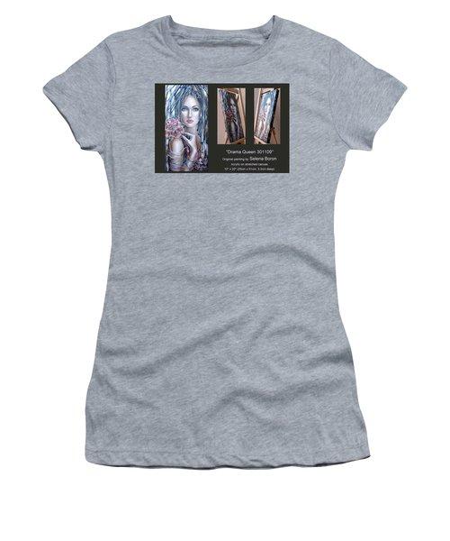 Drama Queen 301109 Women's T-Shirt (Junior Cut) by Selena Boron