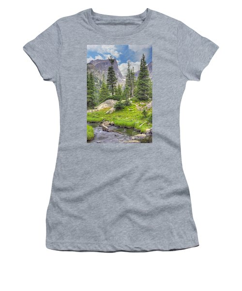 Dream Lake Women's T-Shirt (Athletic Fit)