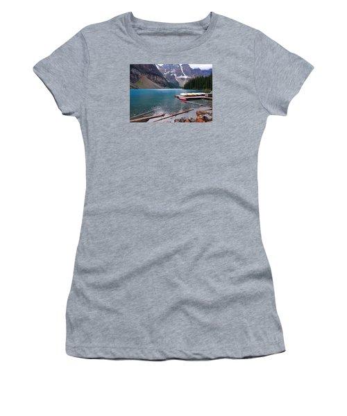 Moraine Lake, Ab  Women's T-Shirt (Junior Cut) by Heather Vopni