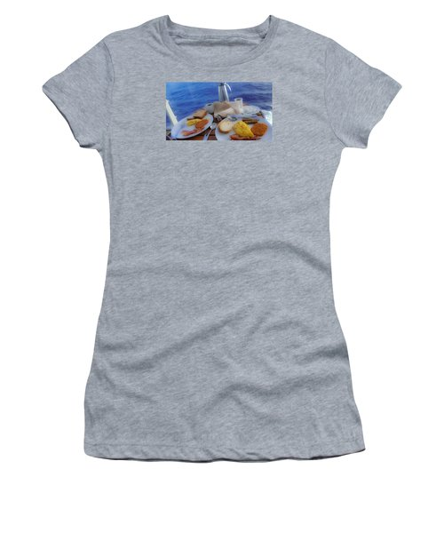 Women's T-Shirt (Junior Cut) featuring the photograph Dreaming Of Breakfast At Sea by DigiArt Diaries by Vicky B Fuller