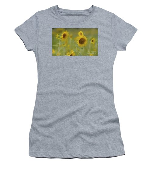 Women's T-Shirt (Junior Cut) featuring the photograph Dreaming Of Sunflowers by Benanne Stiens