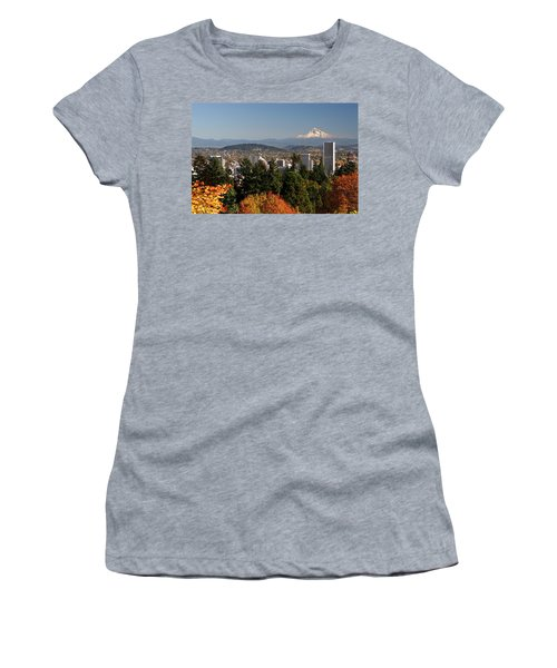 Dressed In Fall Colors Women's T-Shirt (Junior Cut) by Wes and Dotty Weber