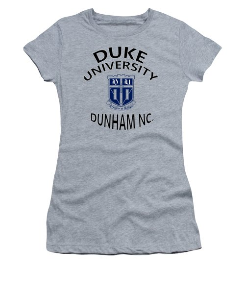 Duke University Dunham N C  Women's T-Shirt (Junior Cut) by Movie Poster Prints