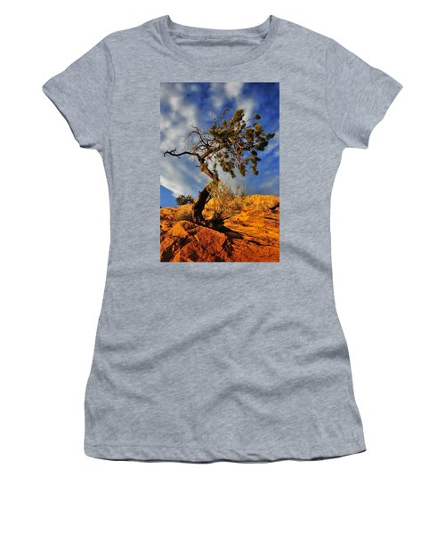 Women's T-Shirt (Junior Cut) featuring the photograph Dusk Dance by Skip Hunt
