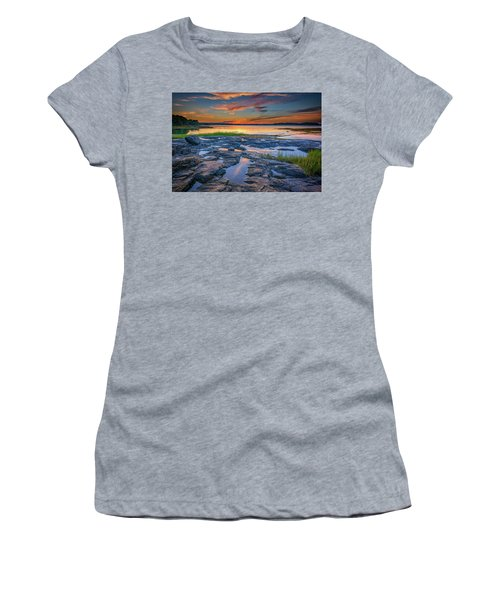 Women's T-Shirt (Athletic Fit) featuring the photograph Dusk On Littlejohn Island by Rick Berk