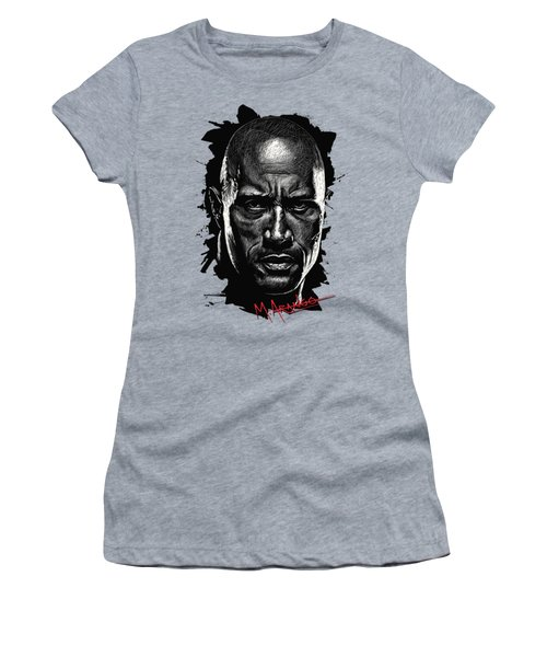 Dwayne Johnson Women's T-Shirt (Junior Cut) by Maria Arango