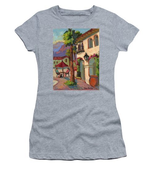 Early Morning Coffee At Old Town La Quinta Women's T-Shirt (Junior Cut) by Diane McClary