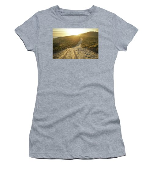 Early Morning Light On 4wd Sand Track Women's T-Shirt
