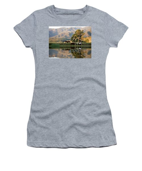 Early Morning Rendezvous Women's T-Shirt (Junior Cut) by Nadja Rider