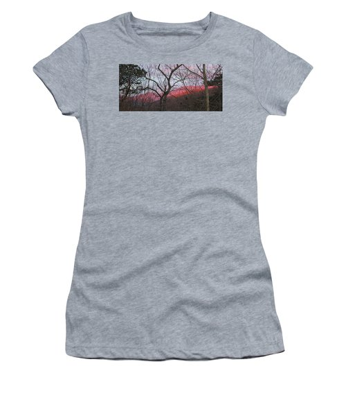 Women's T-Shirt (Junior Cut) featuring the photograph Early Spring Sunrise by Tammy Schneider