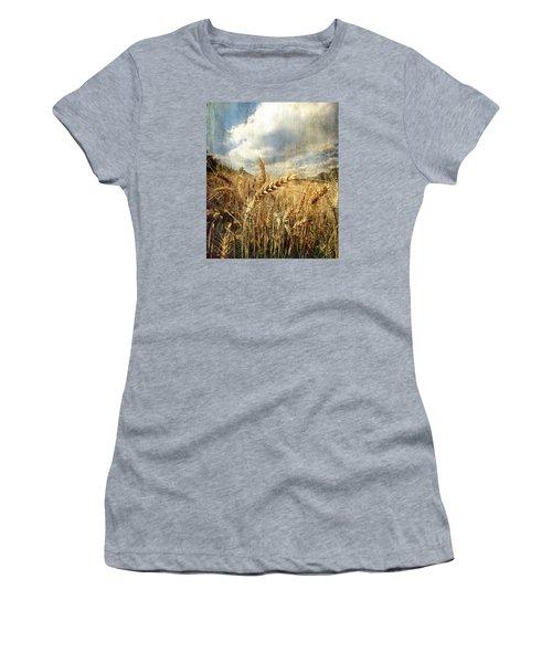Ears Of Corn Women's T-Shirt (Junior Cut) by Vittorio Chiampan