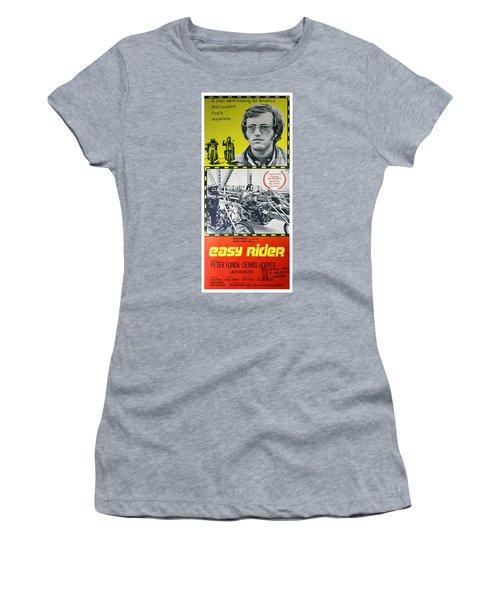 Easy Rider Movie Lobby Poster  1969 Women's T-Shirt (Junior Cut) by Daniel Hagerman