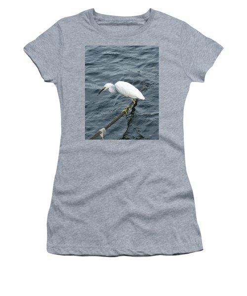 Egret On The Munch Women's T-Shirt (Athletic Fit)