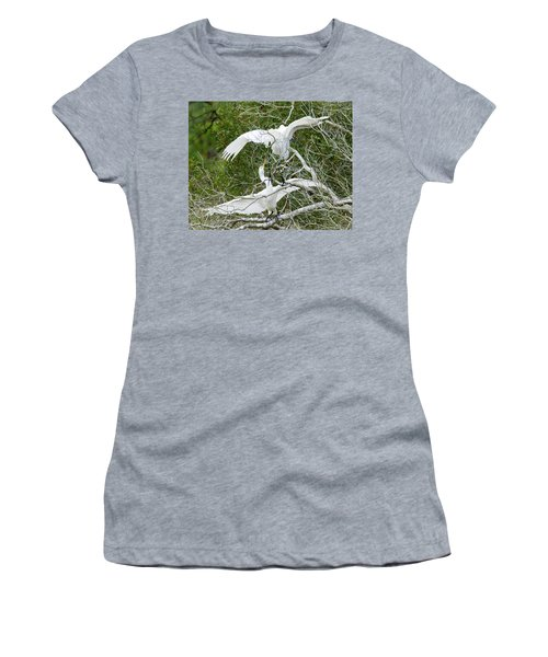 Egret Rumble Women's T-Shirt (Junior Cut) by George Randy Bass