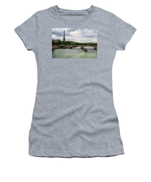 Eiffel Tower And The River Seine Women's T-Shirt