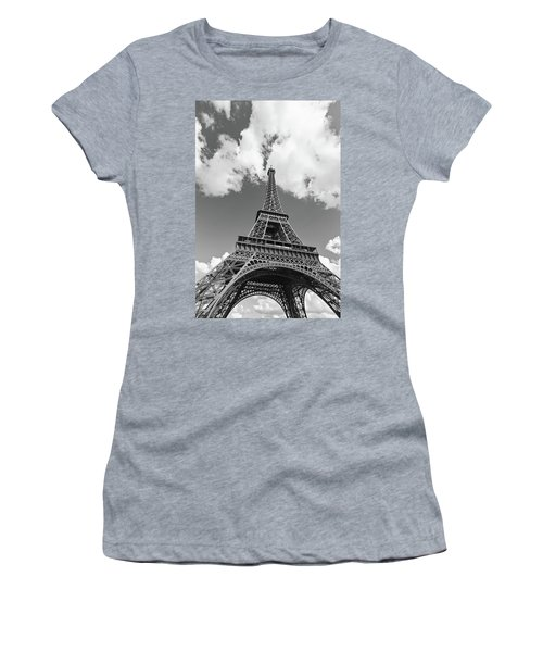 Eiffel Tower - Black And White Women's T-Shirt (Athletic Fit)