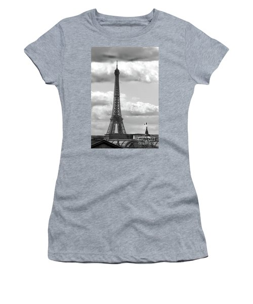 Eiffel Tower From Galeries Lafayette Rooftop Women's T-Shirt (Athletic Fit)