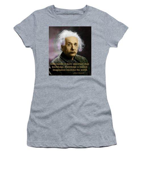 Einstein On Imagination Women's T-Shirt (Athletic Fit)