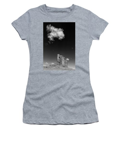 Elephant Butte In Black And White Women's T-Shirt (Junior Cut) by David Cote