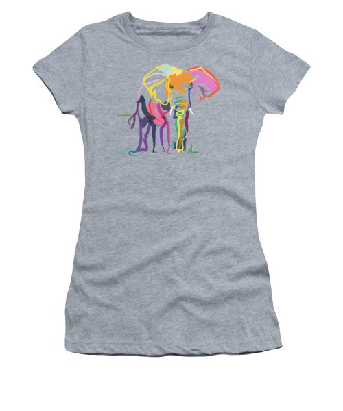 Elephant In Color Ecru Women's T-Shirt (Athletic Fit)