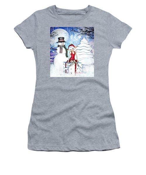 Elfin Winter Holidays Women's T-Shirt